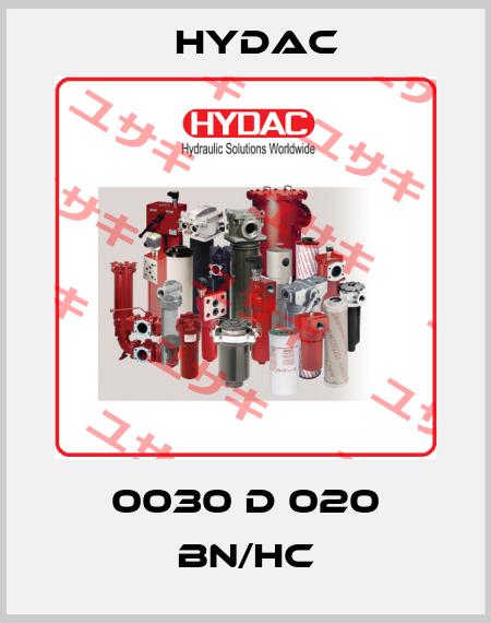 Hydac-0030 D 020 BN/HC price