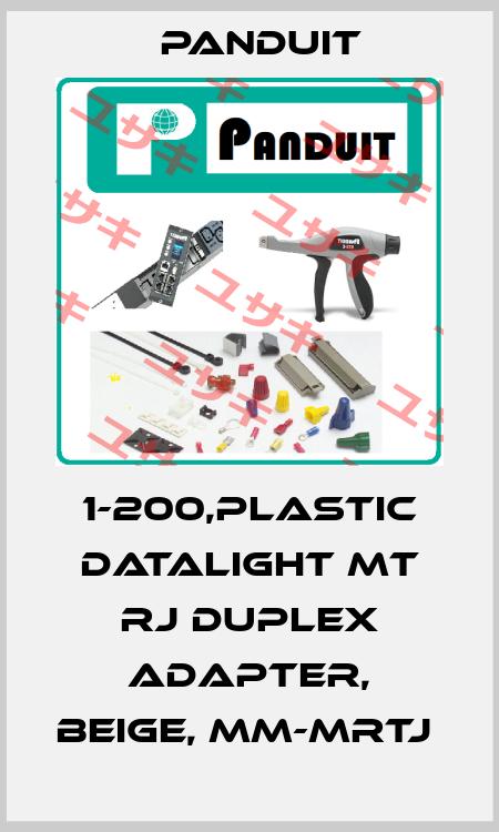 Panduit-1-200,PLASTIC DATALIGHT MT RJ DUPLEX ADAPTER, BEIGE, MM-MRTJ  price