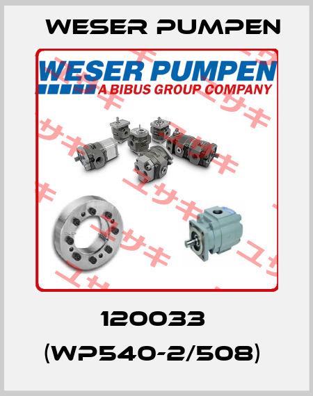 Weser Pumpen-120033  (WP540-2/508)  price