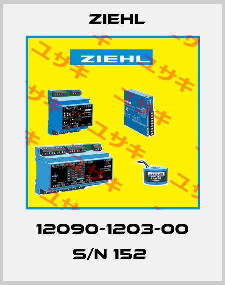 Ziehl-12090-1203-00 S/N 152  price