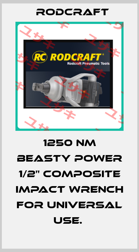 """Rodcraft-1250 NM BEASTY POWER 1/2"""" COMPOSITE IMPACT WRENCH FOR UNIVERSAL USE.  price"""