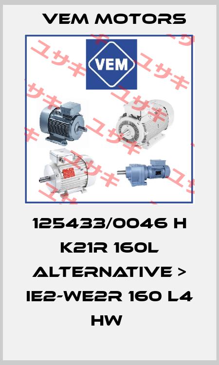 Vem Motors-125433/0046 H K21R 160L ALTERNATIVE > IE2-WE2R 160 L4 HW  price