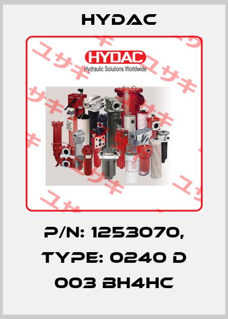 Hydac-P/N: 1253070 Type: 0240 D 003 BH4HC  price
